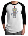 Cute Robot Male Adult Raglan Shirt