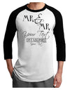 Personalized Mr and Mr -Name- Established -Date- Design Adult Raglan Shirt
