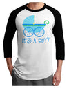 It's a Boy - Baby Boy Carriage Adult Raglan Shirt