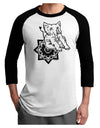 Mandala Baby Elephant Adult Raglan Shirt White Black 3XL Tooloud