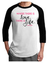 TooLoud Where There Is Love Gandhi Adult Raglan Shirt