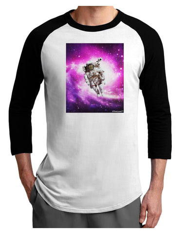 Astronaut Cat Adult Raglan Shirt