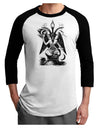Baphomet Illustration Adult Raglan Shirt by