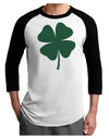 Lucky Four Leaf Clover St Patricks Day Adult Raglan Shirt