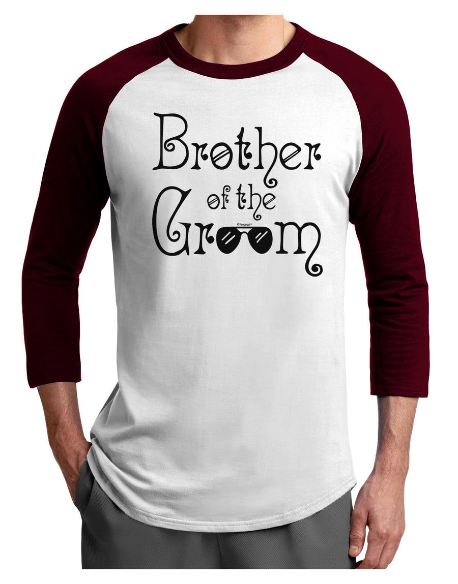 Brother of the Groom Adult Raglan Shirt White Black 3XL Tooloud