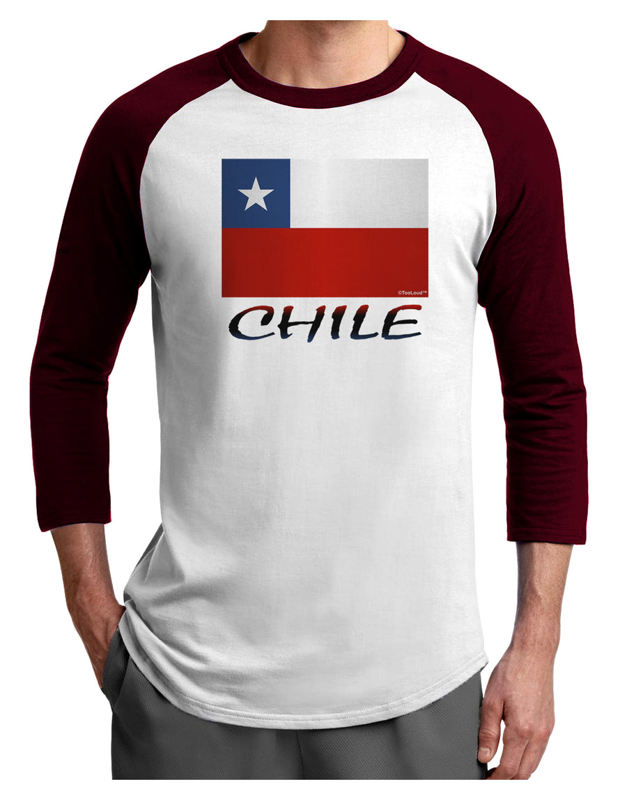 Chile Flag Adult Raglan Shirt