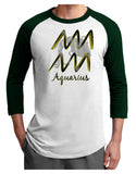 Aquarius Symbol Adult Raglan Shirt