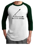 Acute Girl Adult Raglan Shirt