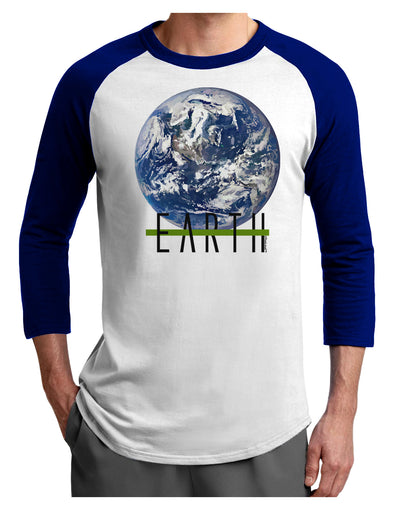 Planet Earth Text Adult Raglan Shirt