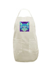 Geometric Kitty Inverted White Plus Size Apron
