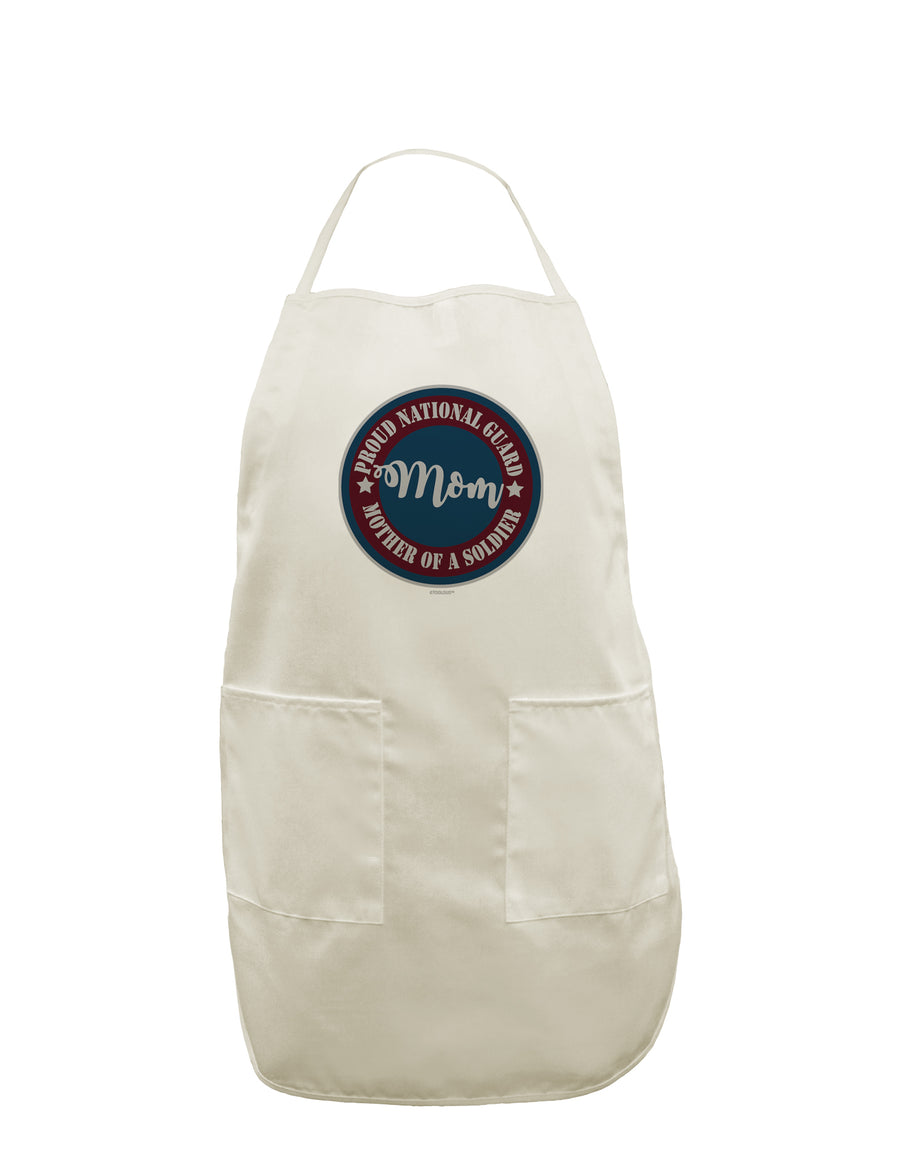 Proud National Guard Mom White Plus Size Apron Tooloud