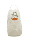 Give Thanks White Plus Size Apron Tooloud