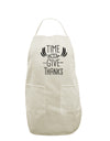 Time to Give Thanks White Plus Size Apron Tooloud
