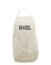 HODL Bitcoin White Plus Size Apron Tooloud