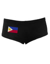 Distressed Philippines Flag Women's Dark Boyshorts Black XL Tooloud