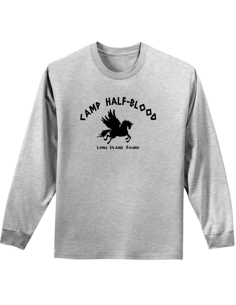 Camp half blood mens and womens long sleeve shirt davson for Women s long sleeve camp shirts