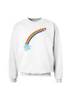 Couples Gay Rainbow Sweatshirt - Left Side or Right Side