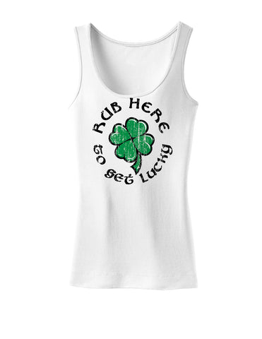 Rub Here to Get Lucky Womens Tank Top