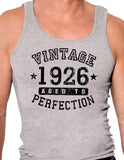 1926 - Vintage Birth Year Mens Ribbed Tank Top Brand