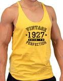 1927 - Vintage Birth Year Mens String Tank Top Brand