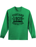 1929 - Vintage Birth Year Adult Long Sleeve Shirt Brand