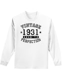 1931 - Vintage Birth Year Adult Long Sleeve Shirt Brand