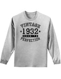 1932 - Vintage Birth Year Adult Long Sleeve Shirt Brand