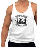 1934 - Vintage Birth Year Mens String Tank Top Brand