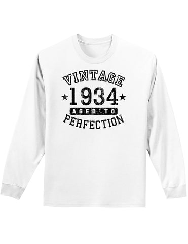 1934 - Vintage Birth Year Adult Long Sleeve Shirt Brand