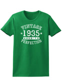 1935 - Vintage Birth Year Womens Dark T-Shirt