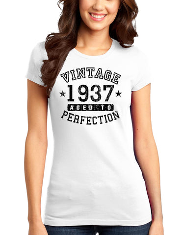1937 - Vintage Birth Year Juniors T-Shirt