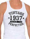 1937 - Vintage Birth Year Mens Ribbed Tank Top Brand