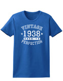 1938 - Vintage Birth Year Womens Dark T-Shirt