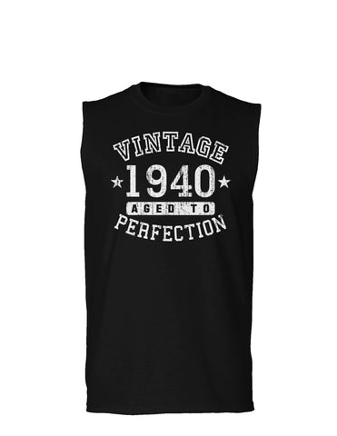 1940 - Vintage Birth Year Muscle Shirt Brand