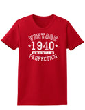 1940 - Vintage Birth Year Womens Dark T-Shirt