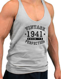 1941 - Vintage Birth Year Mens String Tank Top Brand