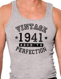 1941 - Vintage Birth Year Mens Ribbed Tank Top Brand