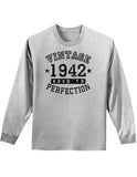 1942 - Vintage Birth Year Adult Long Sleeve Shirt Brand