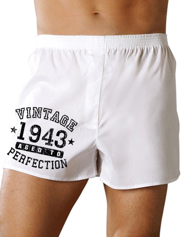 1943 - Vintage Birth Year Boxers Shorts Brand