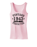1943 - Vintage Birth Year Womens Tank Top Brand