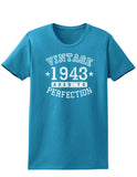 1943 - Vintage Birth Year Womens Dark T-Shirt