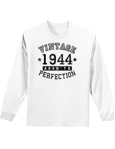 1944 - Vintage Birth Year Adult Long Sleeve Shirt Brand