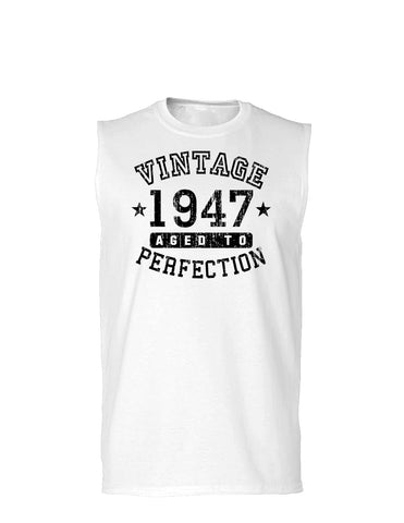 1947 - Vintage Birth Year Muscle Shirt Brand
