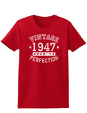1947 - Vintage Birth Year Womens Dark T-Shirt
