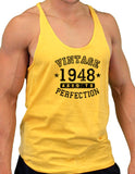 1948 - Vintage Birth Year Mens String Tank Top Brand
