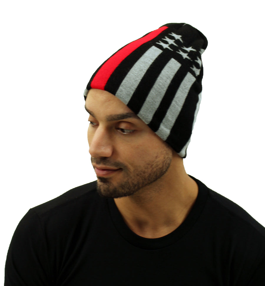 Thin Red Line Firefighters Premium Knit Beanie