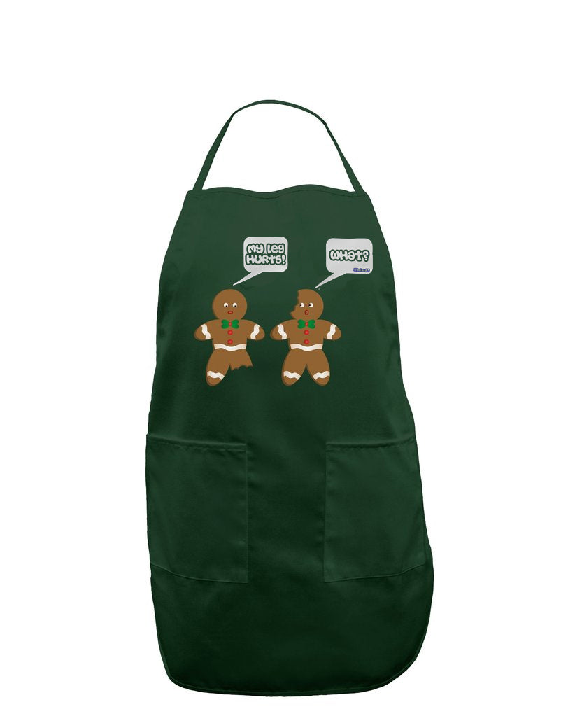 Funny Gingerbread Conversation Christmas Apron for Adults