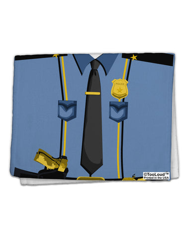 "Police Blue-Gold AOP 11""x18"" Dish Fingertip Towel All Over Print"
