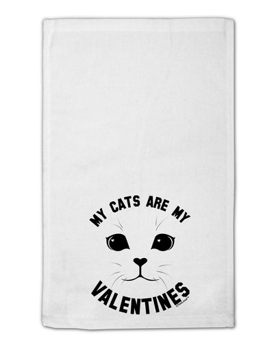 "My Cats are my Valentines 11""x18"" Dish Fingertip Towel by TooLoud"