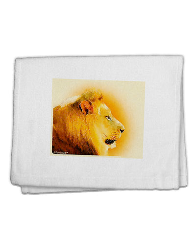"Lion Watercolor 3 11""x18"" Dish Fingertip Towel"